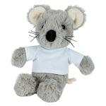 Pluszowa mysz z białą koszulką do sublimacji