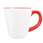 Kubek latte do sublimacji z kolorowym środkiem i uchem