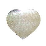 Dwukolorowe cekiny do sublimacji w kształcie serca - naprasowanka
