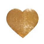 Dwustronne cekiny do sublimacji w kształcie serca - naprasowanka