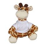 Pluszowa żyrafa z białą koszulką do sublimacji