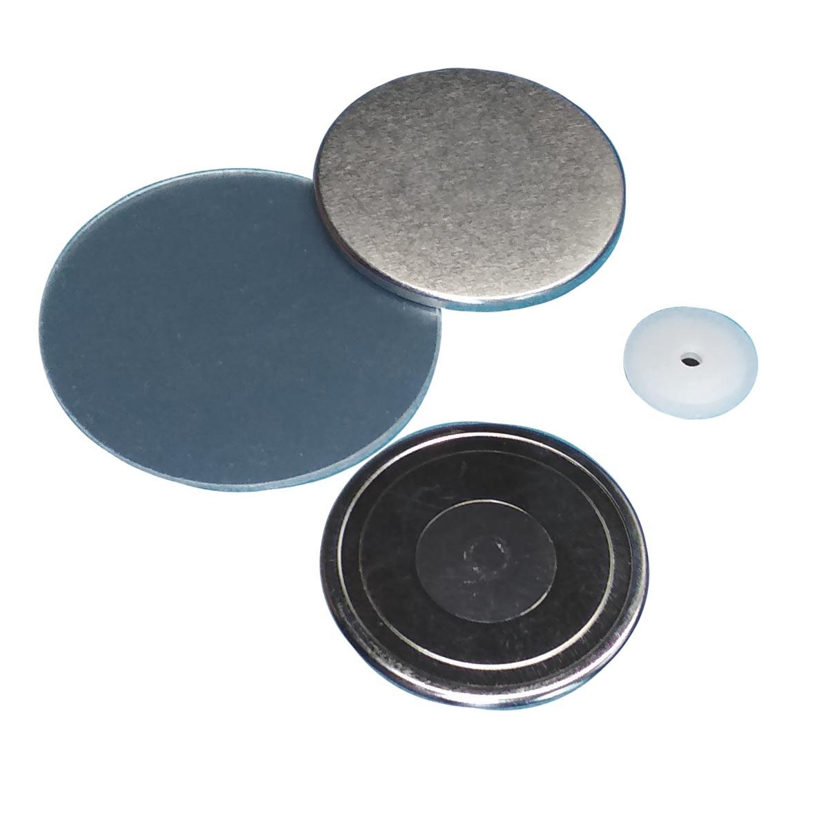 Komponenty do maszynki do składania znaczków z bezpiecznym zapięciem magnetycznym do ubrań