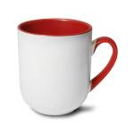 Kubek kawowy do sublimacji z kolorowym środkiem i uchem