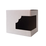 Kartonik na kubek z okienkiem - 50 sztuk