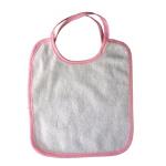 Śliniak dziecięcy do sublimacji z różową obwódką - 5 sztuk