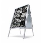 Dwustronny potykacz reklamowy z ramą zatrzaskową z zaokrąglonym narożnikiem - format A1