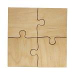 Puzzle drewniane - 4 elementy (opakowanie 10 szt.)