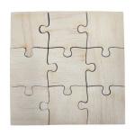 Puzzle drewniane - 9 elementów (opakowanie 10 szt.)