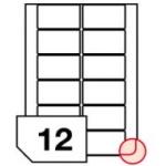Samoprzylepne etykiety papierowe fotograficzne, zaokrąglone rogi do drukarek atramentowych - 12 etykiet na arkuszu