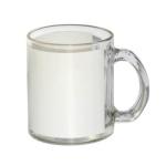 Kubek do sublimacji szklany z białą ramką do sublimacji
