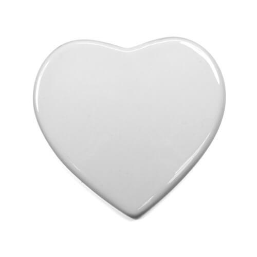 Płytka ceramiczna w kształcie serca do sublimacji