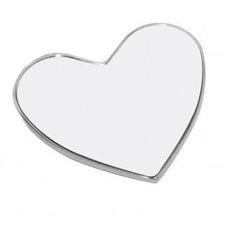 Magnes metalowy w kształcie serca do sublimacji