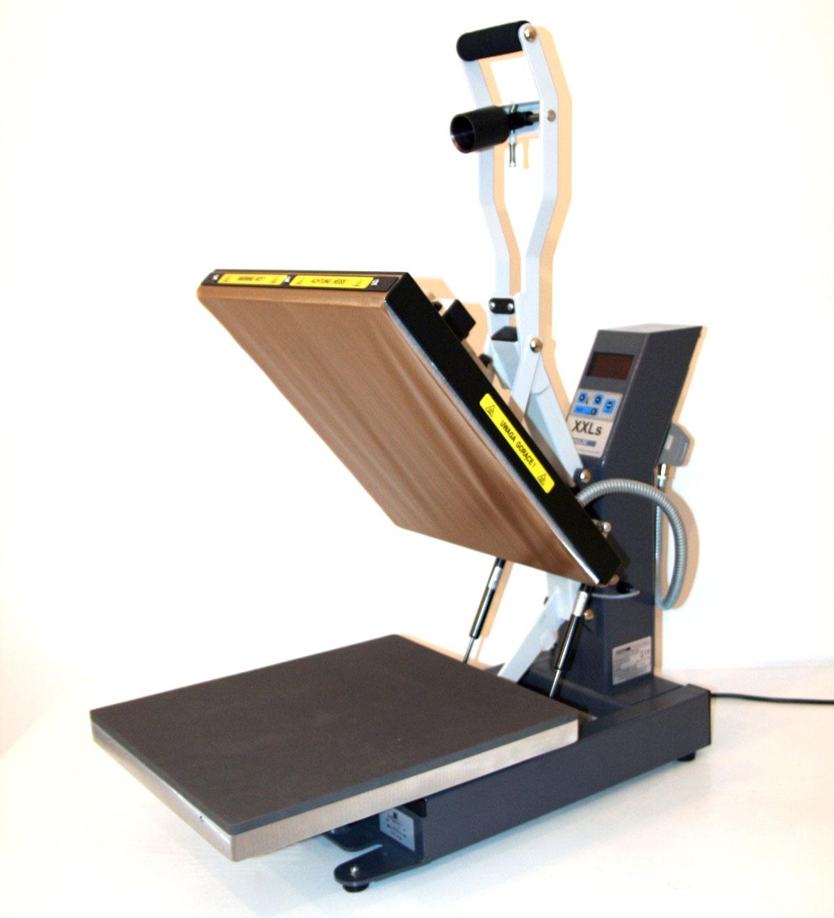 XXLs - prasa transferowa do powierzchni płaskich, otwieranie automatyczne
