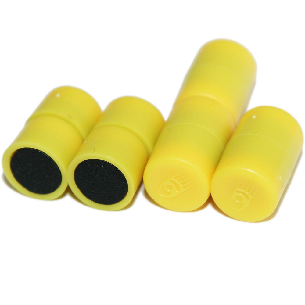 Magnesy okrągłe żółte