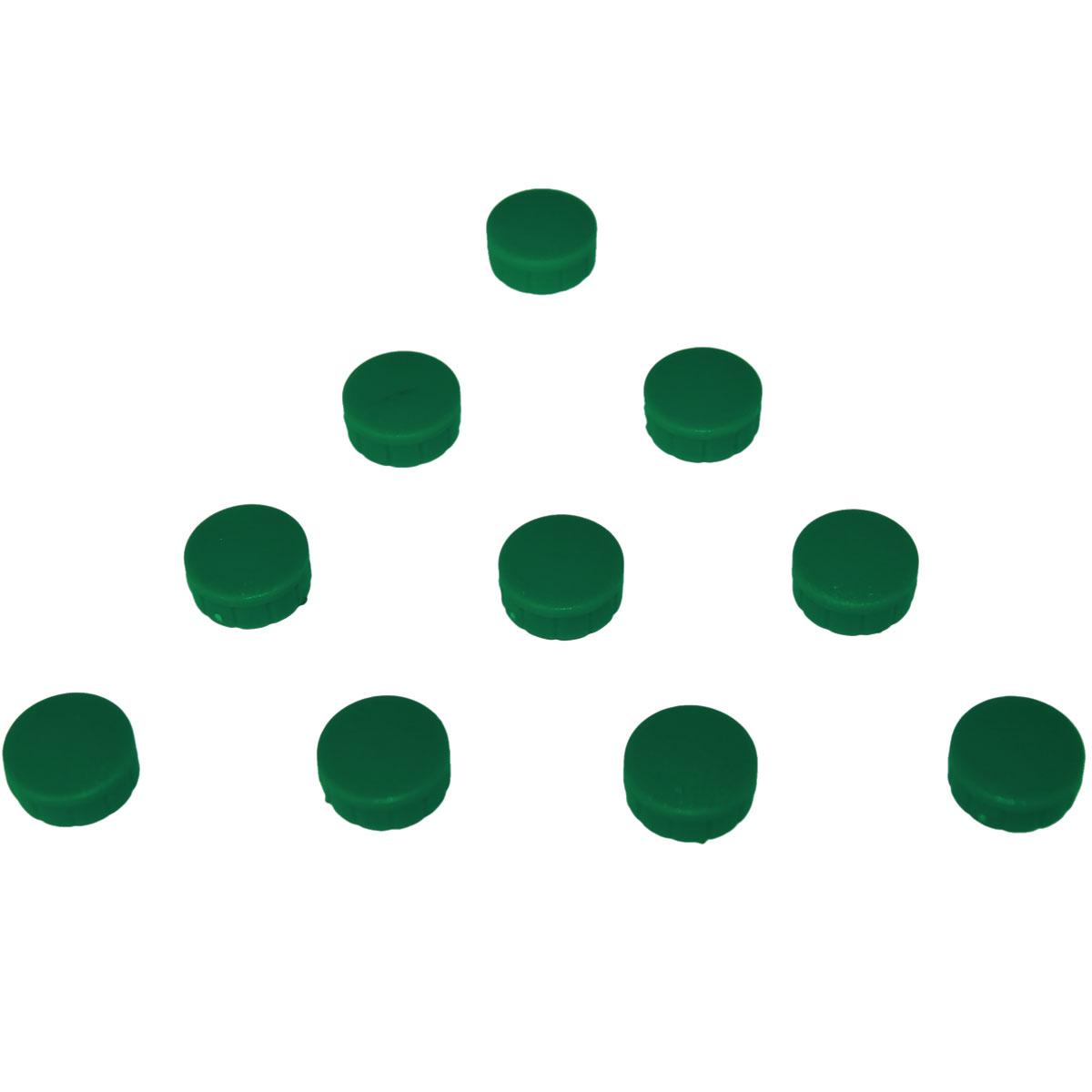 Magnesy okrągłe zielone