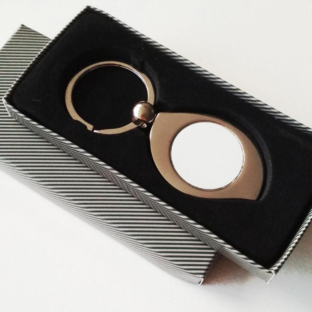 Brelok metalowy do sublimacji w kształcie łezki