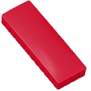 Prostokątne magnesy biurowe - czerwone