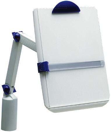 Uniwersalny uchwyt na biurko z klamrą i obracanym ramieniem.