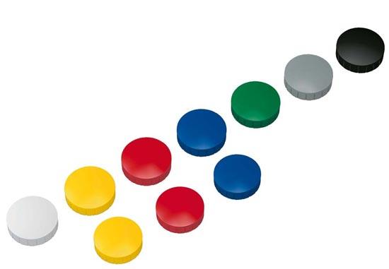 Magnesy okrągłe kolorowe