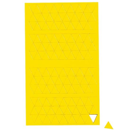 Geometryczne symbole magnetyczne - żółte trójkąty