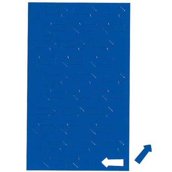 Geometryczne symbole magnetyczne - niebieskie strzałki