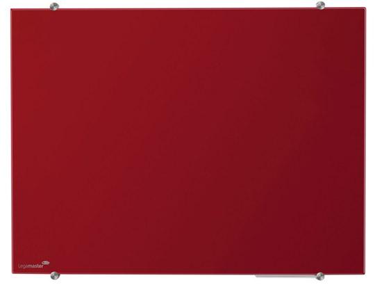 Tablica szklana suchościeralna magnetyczna - czerwona