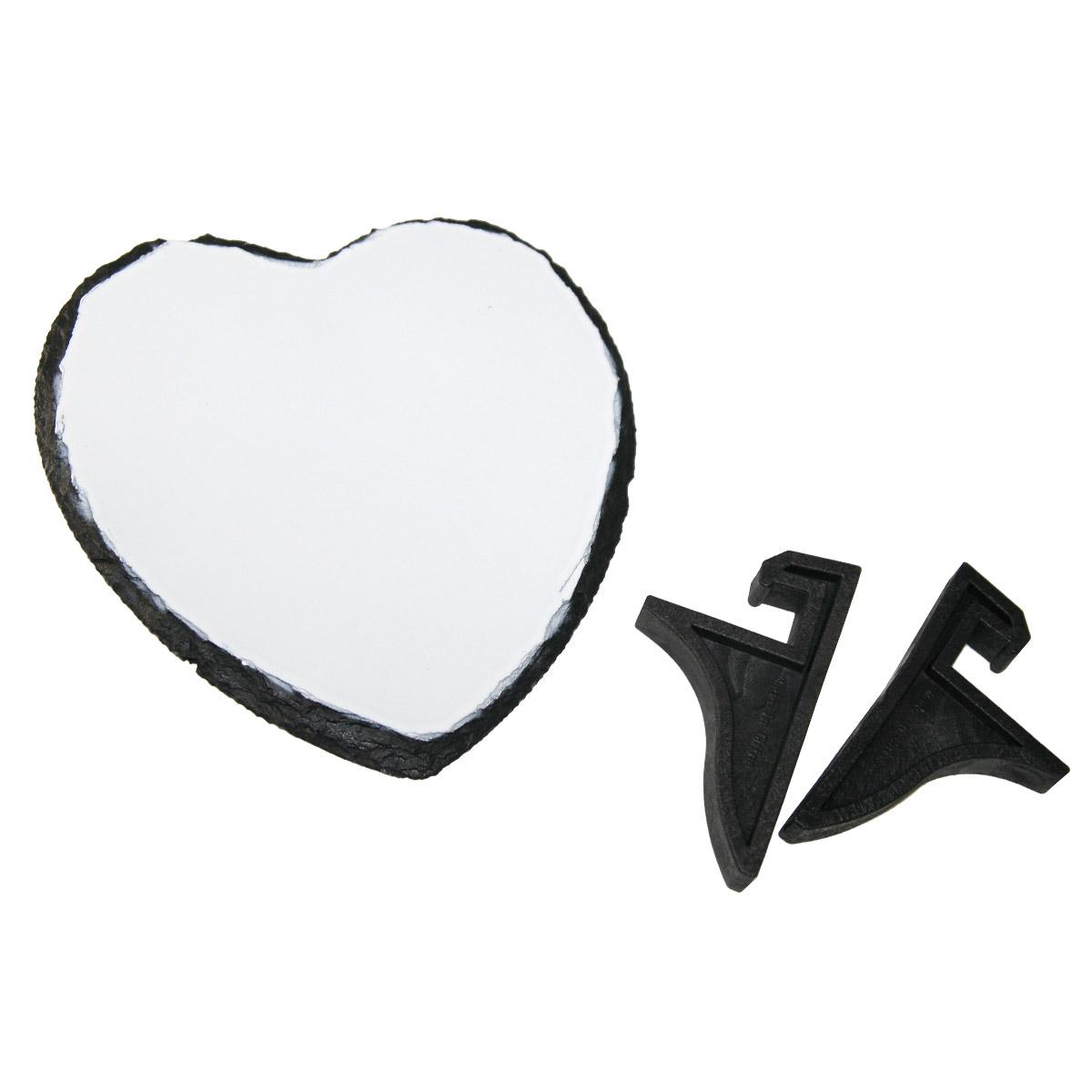 Płyta kamienna w kształcie serca do sublimacji - 15 x 15 cm