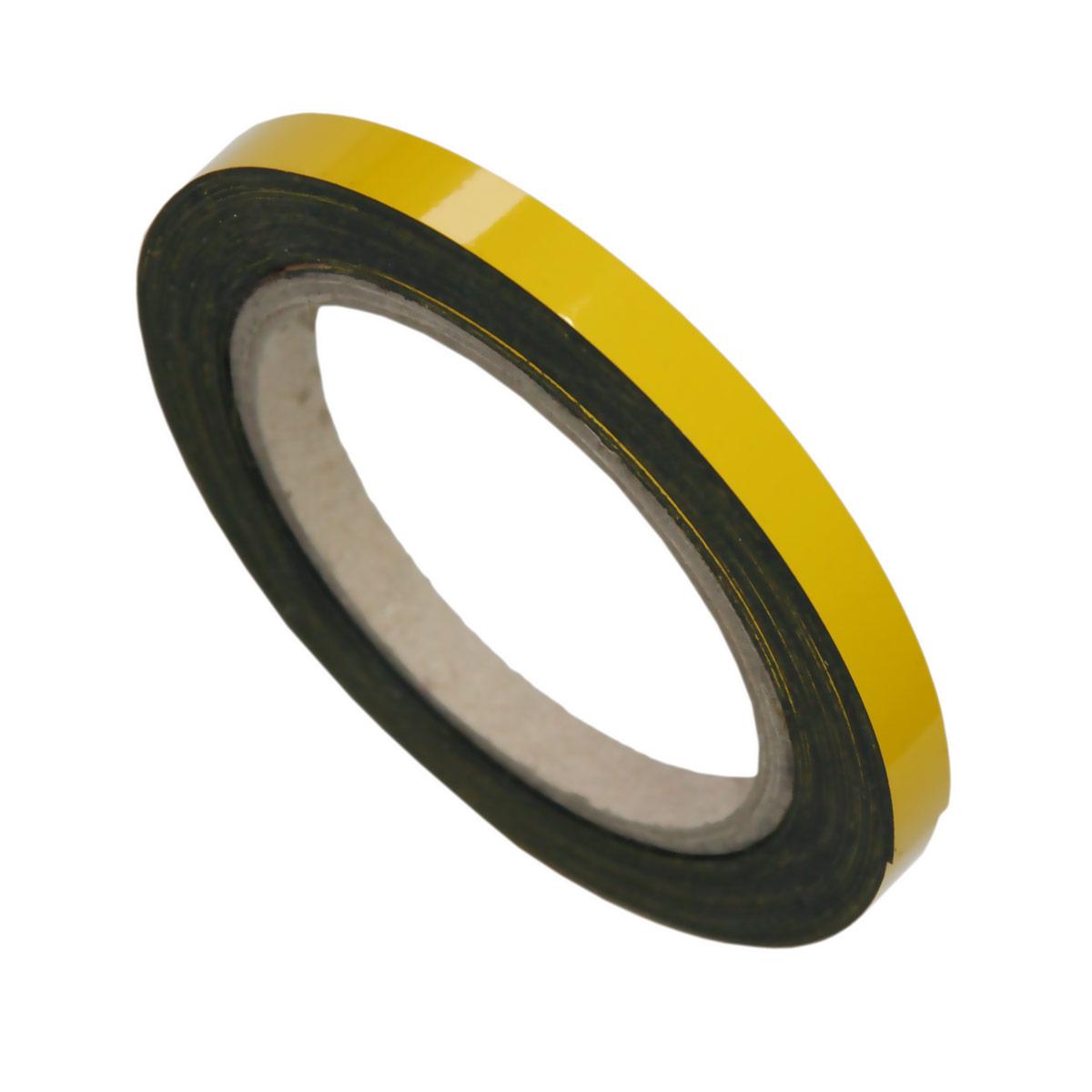 Pasek magnetyczny suchościeralny żółty
