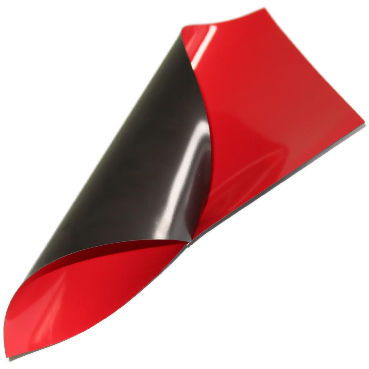 Folia magnetyczna A4 - czerwona