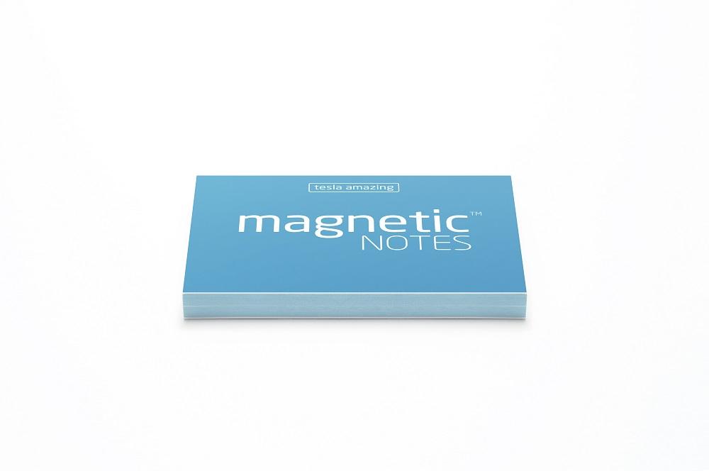Elektrostatyczne suchościeralne karteczki na notatki - niebieskie