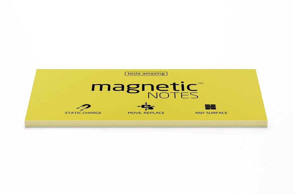 Elektrostatyczne suchościeralne karteczki na notatki - żółte