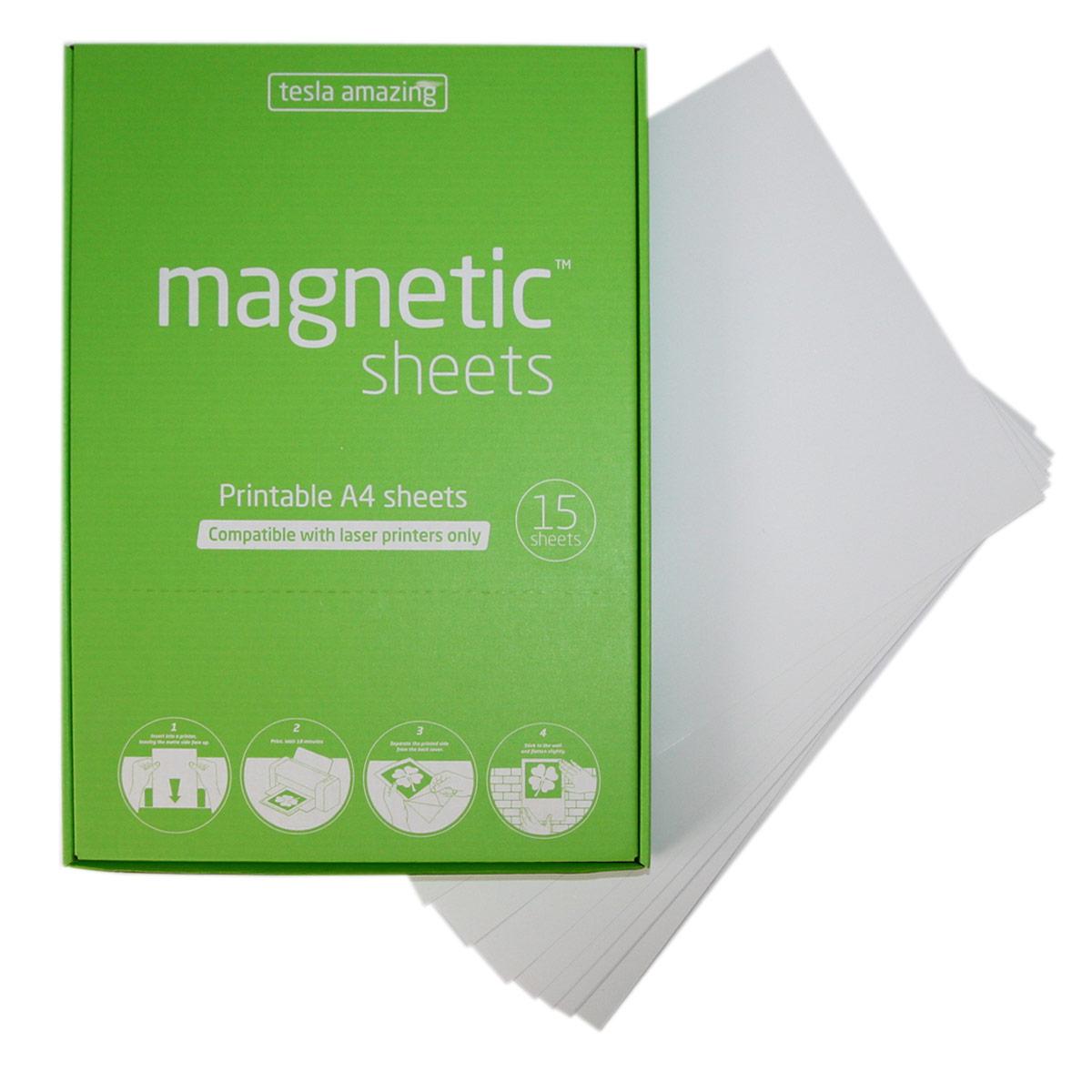 Elektrostatyczne arkusze do druku laserowego magnetic SHEETS - białe