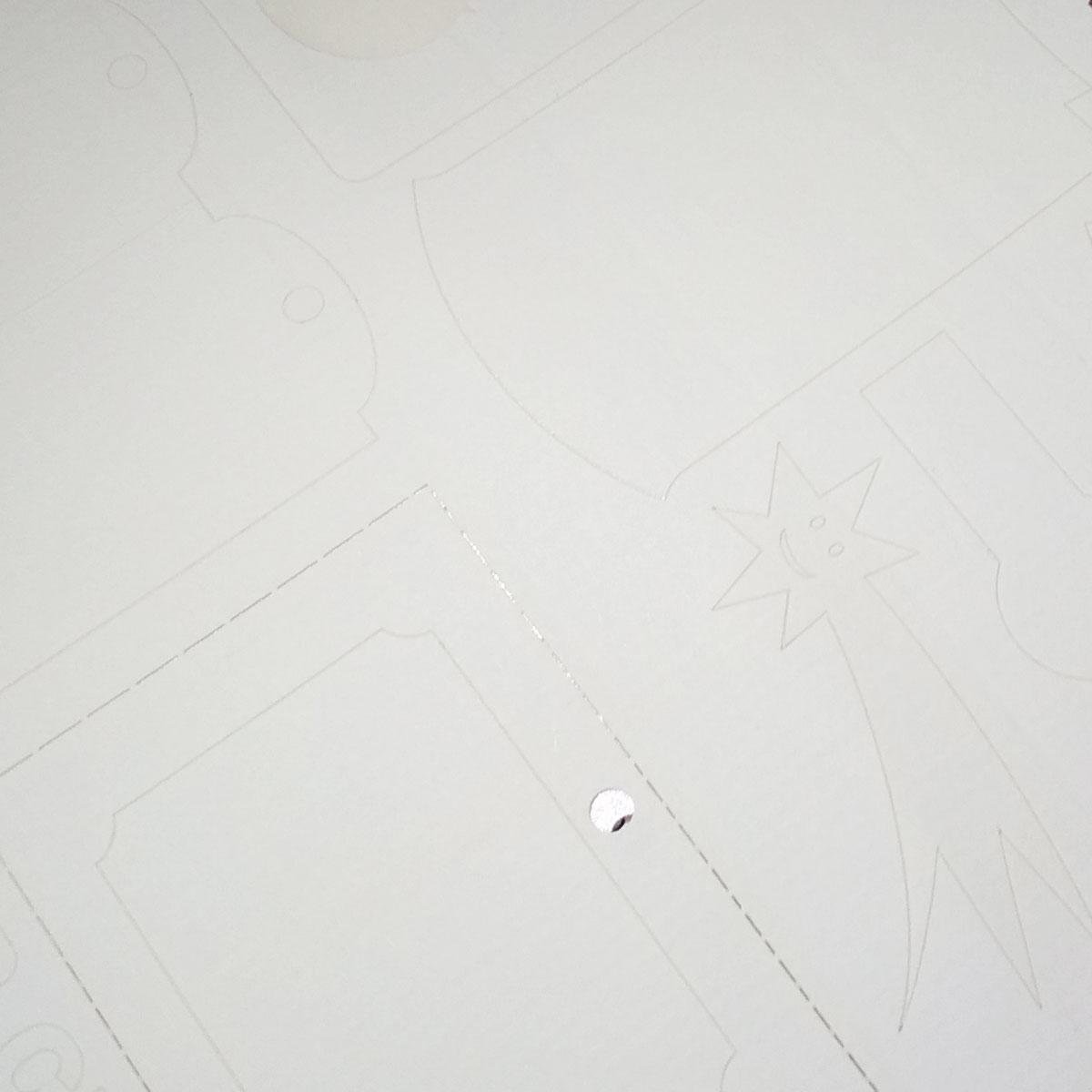 Ozdobny samoprzylepny papier żeberkowy do drukarek laserowych i kopiarek