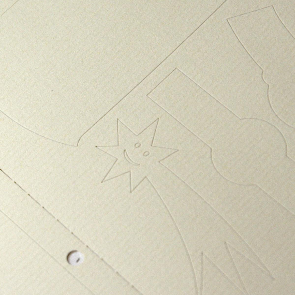 Kremowy samoprzylepny papier prążkowany do drukarek laserowych i kopiarek - 100 arkuszy