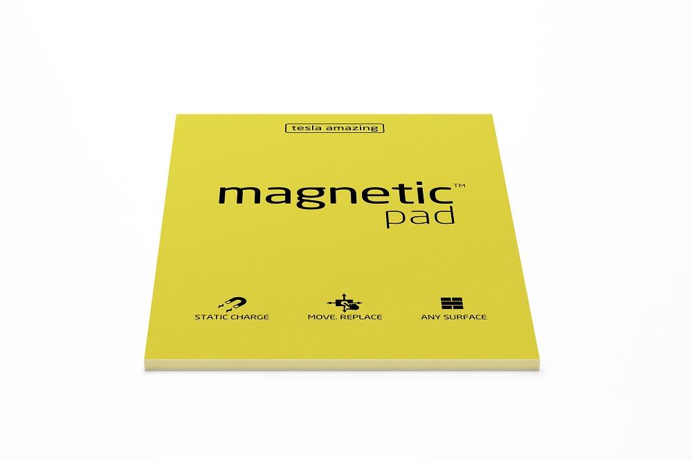 Elektrostatyczne suchościeralne arkusze na notatki magnetic PAD - żółte