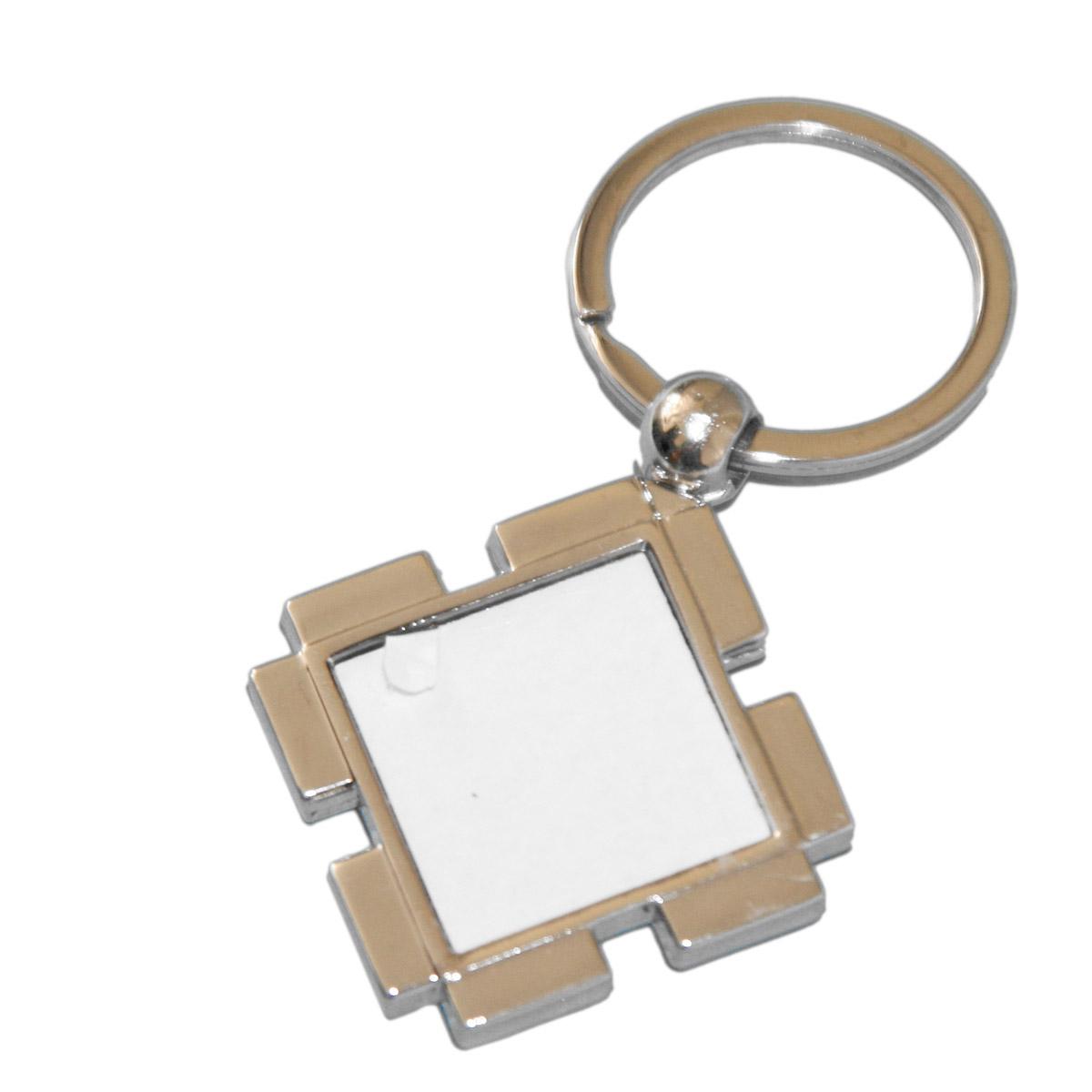 Brelok metalowy kwadratowy do sublimacji