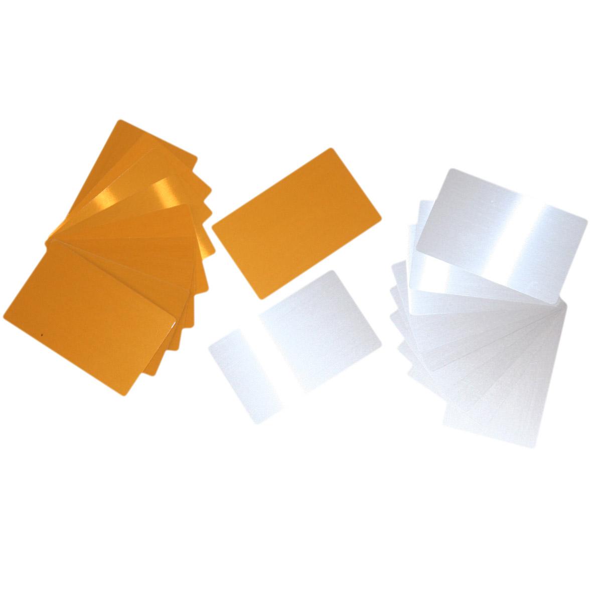 Wizytówki aluminiowe do sublimacji - 100 sztuk