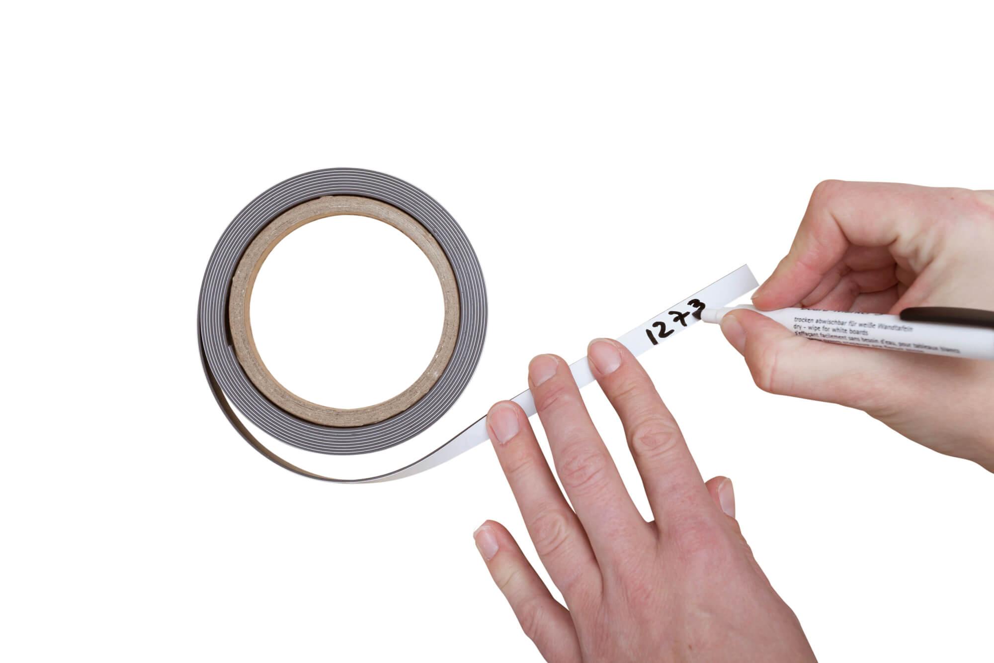 Pasek magnetyczny suchościeralny biały