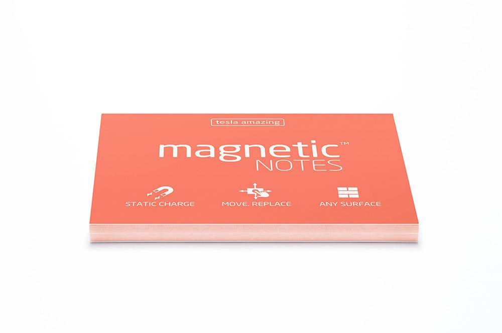 Elektrostatyczne suchościeralne karteczki na notatki - koralowe pastelowe