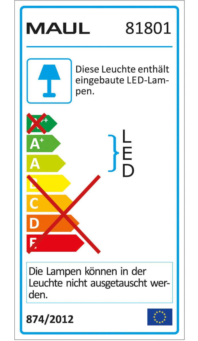 Przenośna, akumulatorowa lampka LED - czarna
