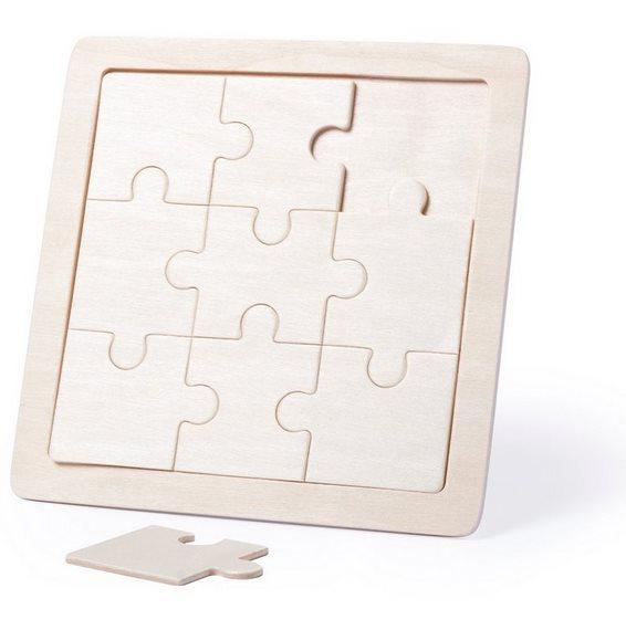 Puzzle drewniane do termotransferu - 9 elementów