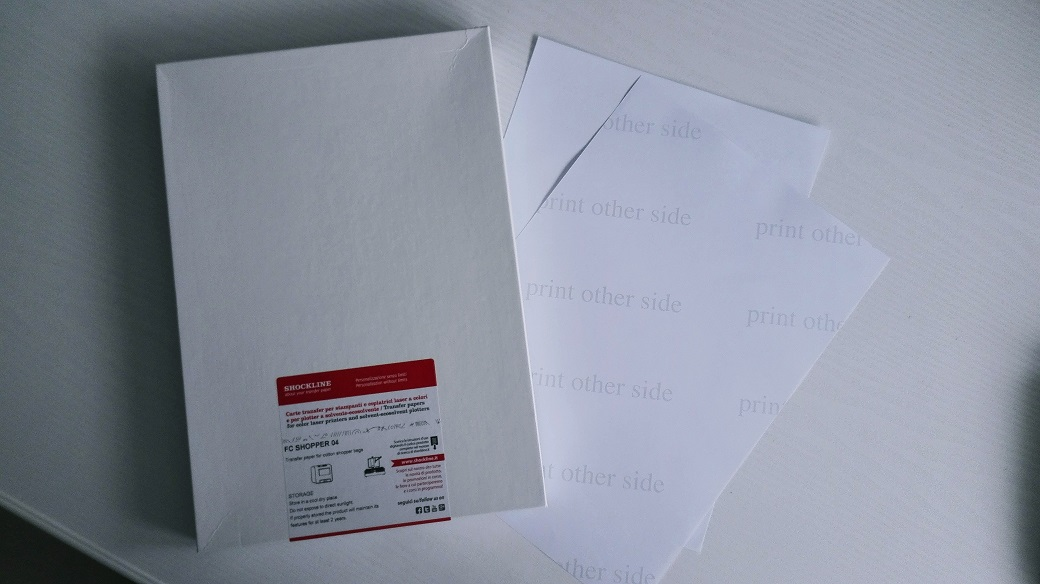 FC SHOPPER - papier transferowy do drukarek laserowych na jasne tkaniny bez podtła