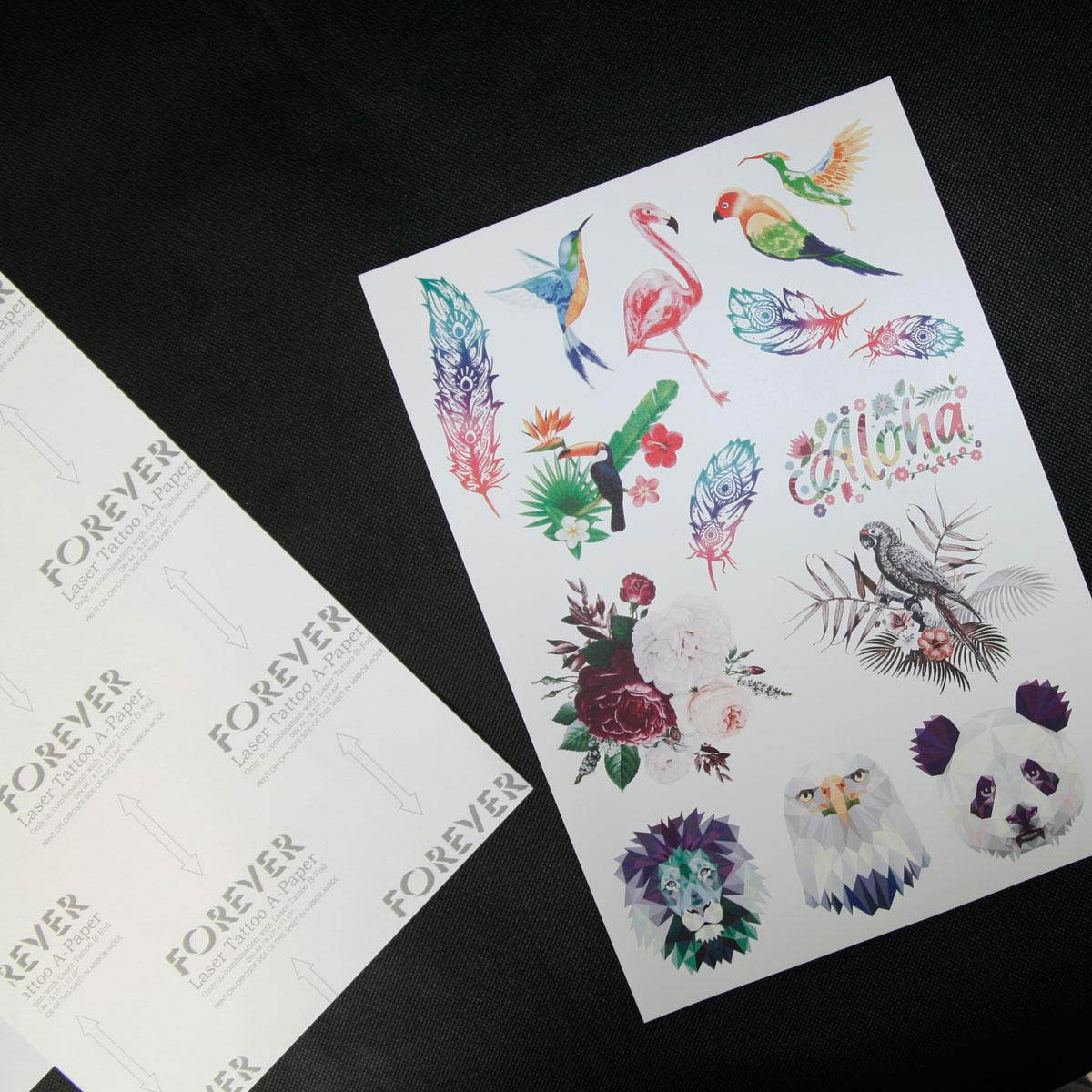Papier do tatuaży zmywalnych do drukarek laserowych