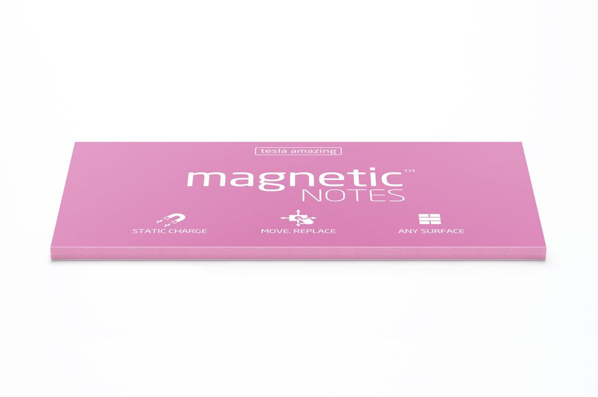 Elektrostatyczne suchościeralne karteczki na notatki - różowe