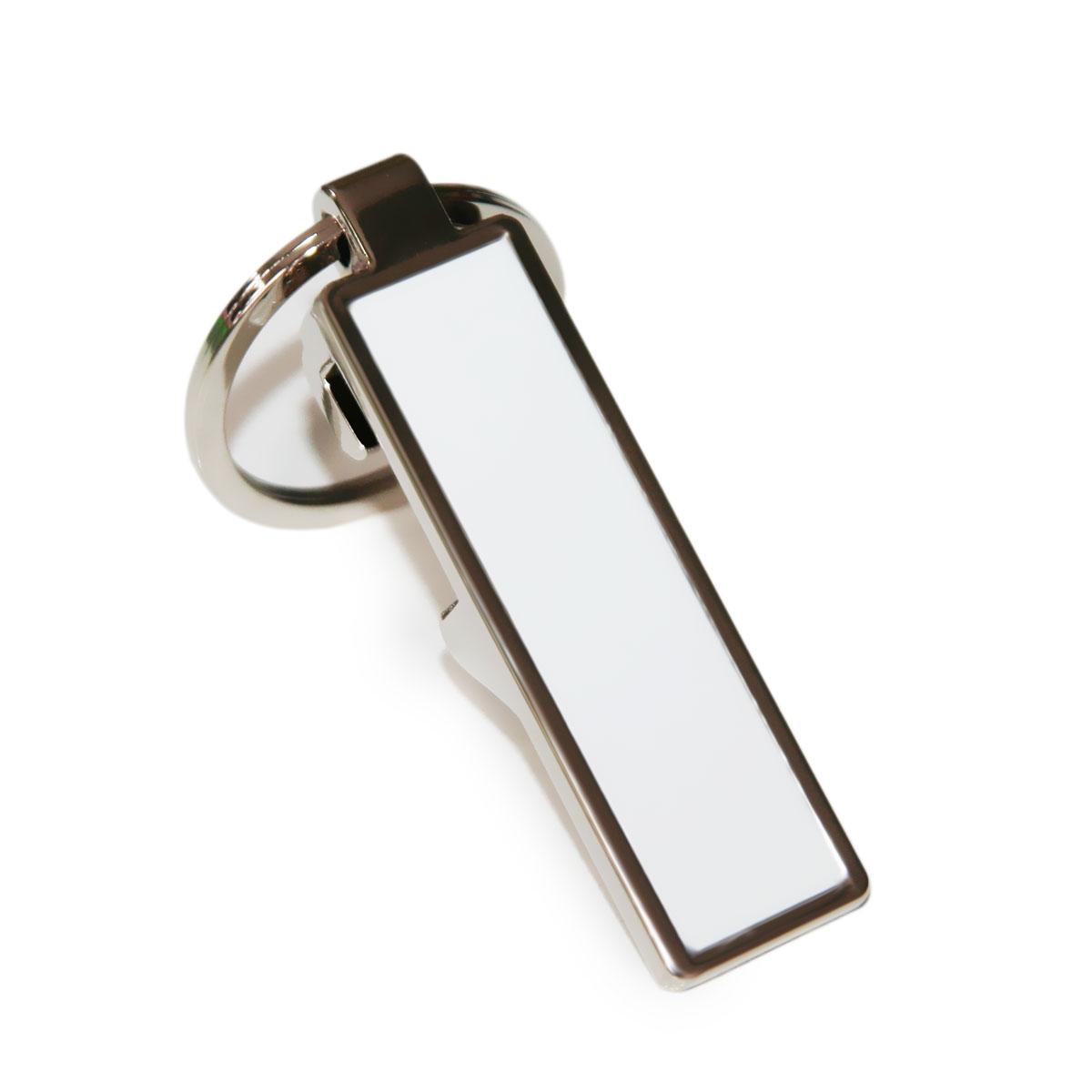 Brelok prostokątny metalowy - otwieracz do sublimacji
