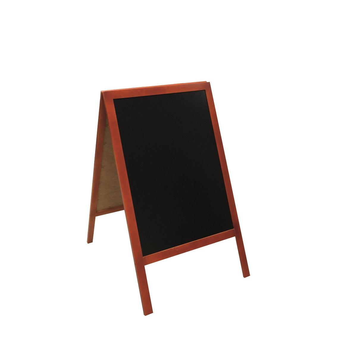 Dwustronny potykacz drewniany z tablicami kredowymi
