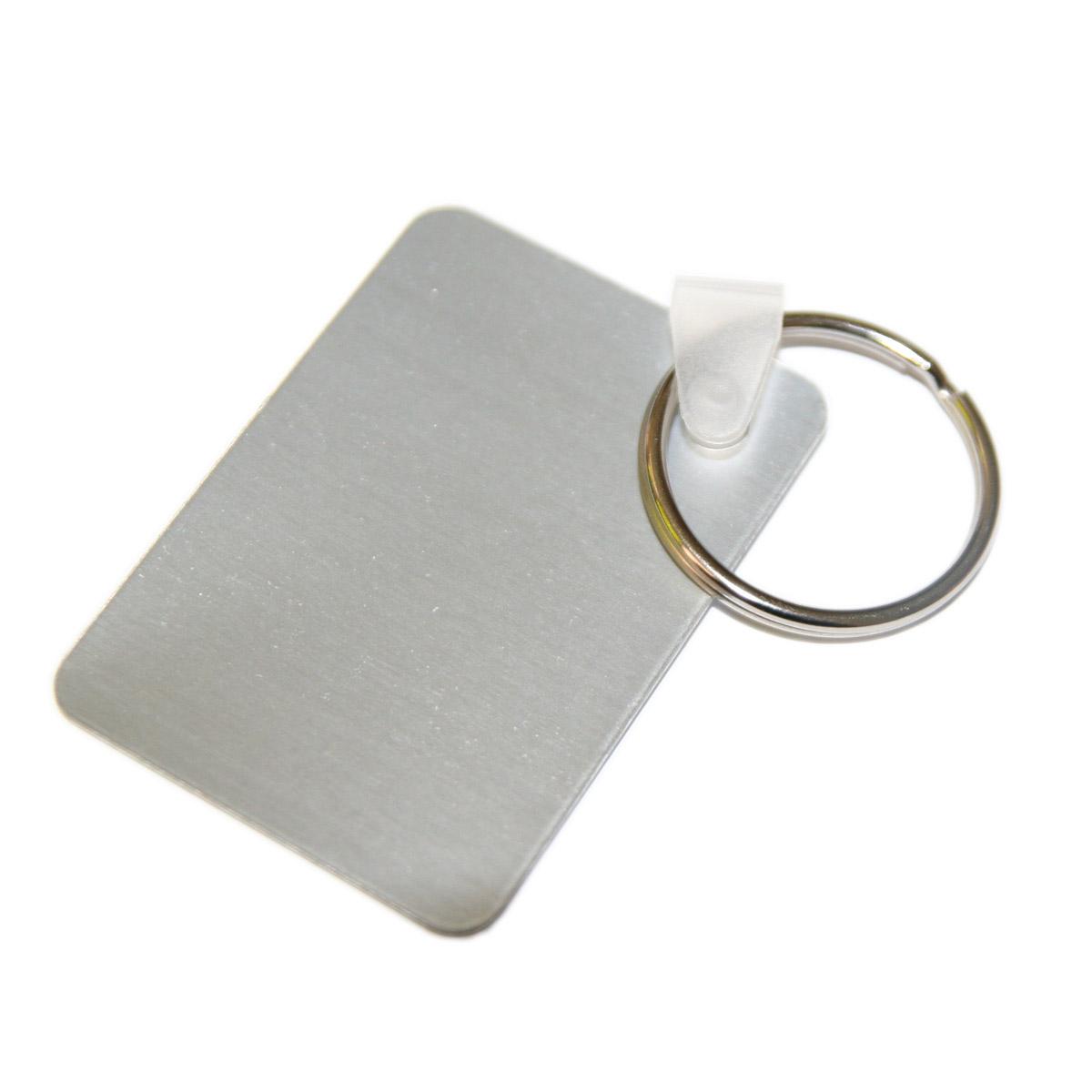 Brelok metalowy prostokątny do sublimacji - 10 sztuk