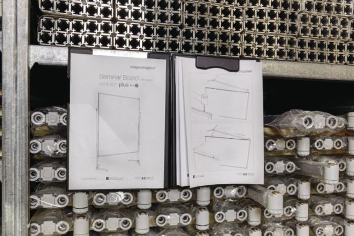 Clipboard plastikowy magnetyczny zamykany