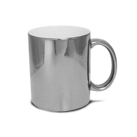 Błyszczący metaliczny kubek do sublimacji - srebrny