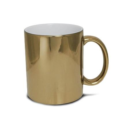 Błyszczący metaliczny kubek do sublimacji - złoty